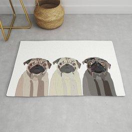 Triple Pugs Rug