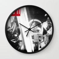 apollo Wall Clocks featuring Apollo Tee by DvasaDva