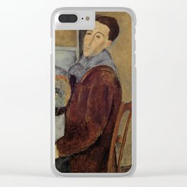 Amedeo Modigliani - Self Portrait Clear iPhone Case