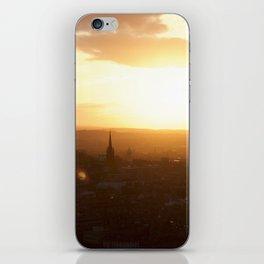 Salisbury Crags overlooking Edinburgh at sunset 3 iPhone Skin