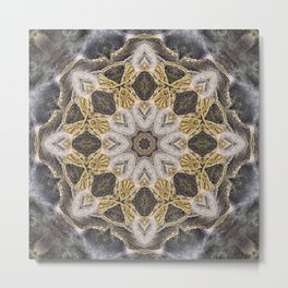 Waterfall Mandala Metal Print