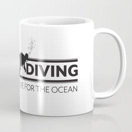Lets Go Diving Coffee Mug