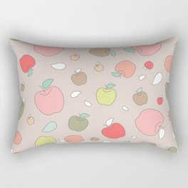 Autumn apples. Pastel Rectangular Pillow