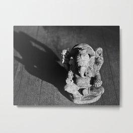 Ganesh and Shadow Metal Print