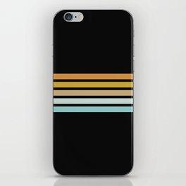 Retro Sunshine Stripes iPhone Skin