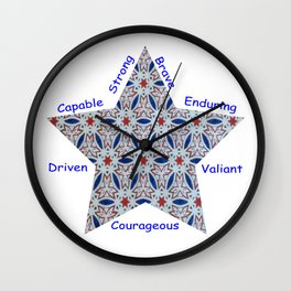 4th Of July Courage Wall Clock