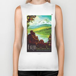 Earth - Your Oasis in Space Biker Tank