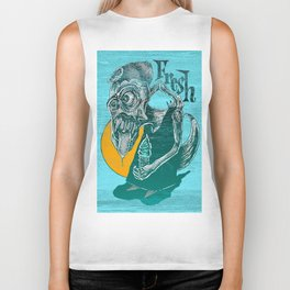 Fresh Blue Ice Cream Biker Tank