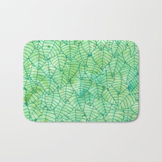 Green foliage Bath Mat