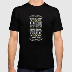 Psalm 37:4 Black Mens Fitted Tee MEDIUM