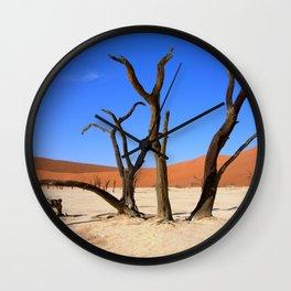 Skeleton tree II Wall Clock