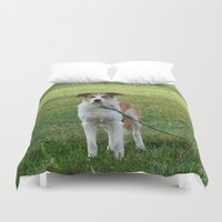 courage Duvet Covers featuring Courage by Kaleena Kollmeier