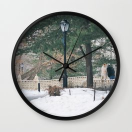 Old Couple Wall Clock