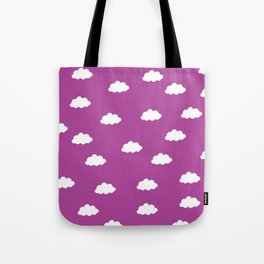 White clouds in purple pink background Tote Bag