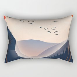 Waterfall landscape Rectangular Pillow