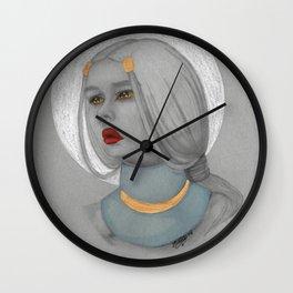 Moon Gold Wall Clock