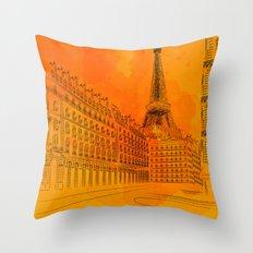Parisian Sunsets Throw Pillow