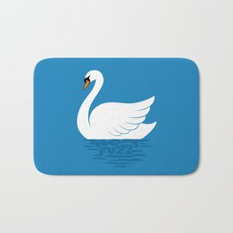 Just The One Swan Actually Bath Mat