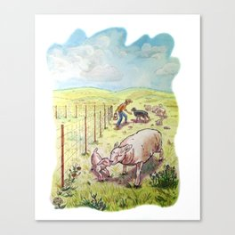 Popcorn the Lamb 5 Canvas Print