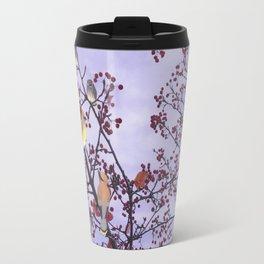 cedar waxwings and berries Travel Mug
