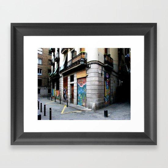 Street Corner Framed Art Print