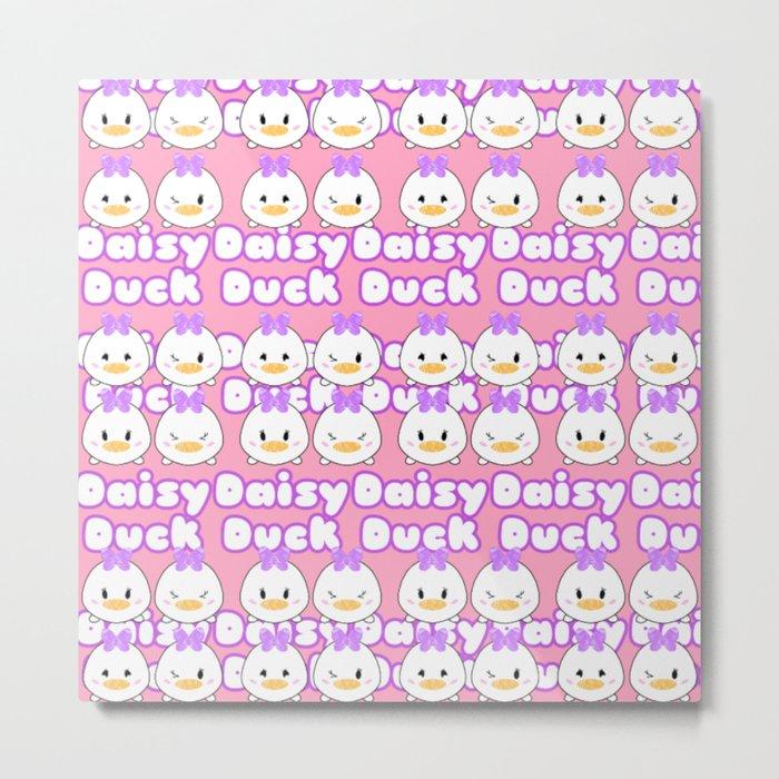 Daisy Tsum Tsum Pattern Metal Print
