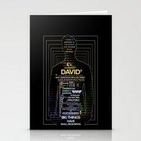 prometheus Stationery Cards featuring David8 - Prometheus by Chubbybuddhist