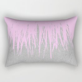 Concrete Fringe Blush Rectangular Pillow