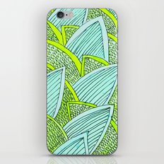 Sea of Leaves - Blue and Green Leaf pattern iPhone Skin