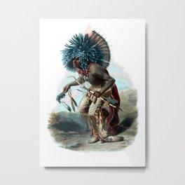 Vintage Moenitarri Warrior in the Costume of the Dog Dance Metal Print
