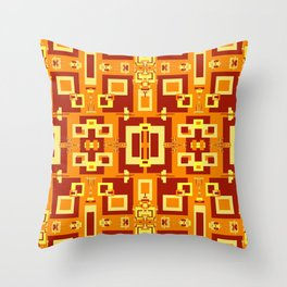 Red, Cream, Gold, Yellow Decorative 2 Throw Pillow