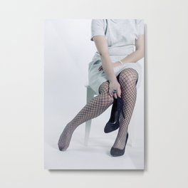 fishnet tights Metal Print