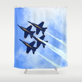 Blue Angels #s 1 2 3 4 Shower Curtain