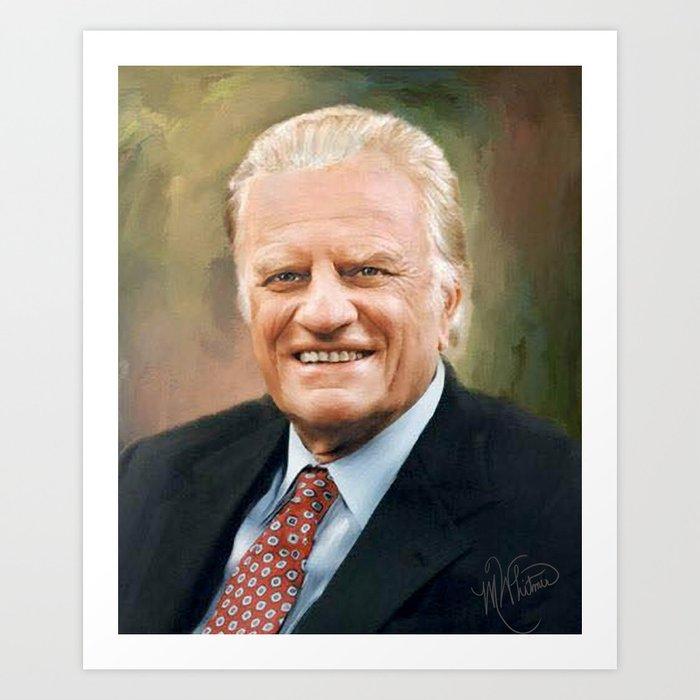 Rev. Billy Graham Art Print