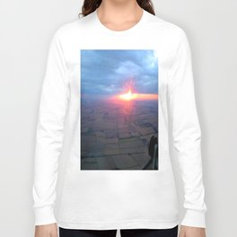 Flying at Sunset (Full Sutton) Long Sleeve T-shirt