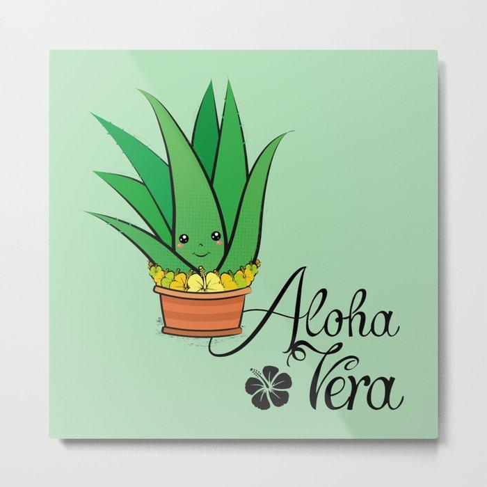 Aloha Vera Kawaii Metal Print