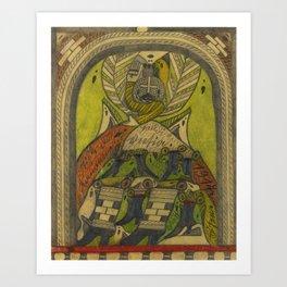 Adolf Wölfli (1864 - 1930)   HELIDI=VEETIA Art Print