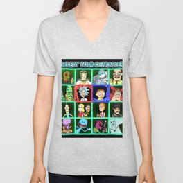 Rick Selects His Character Unisex V-Neck