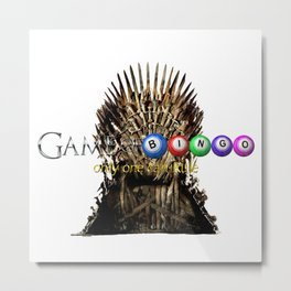 Game of Bingo Iron Throne Metal Print