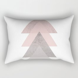 DARK BLUSH GRAY CONCRETE TRIANGLES Rectangular Pillow