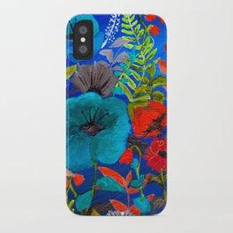 Blue Garden iPhone Case