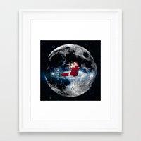 santa Framed Art Prints featuring Santa by Cs025