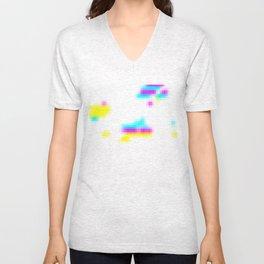 Pixels Unisex V-Neck