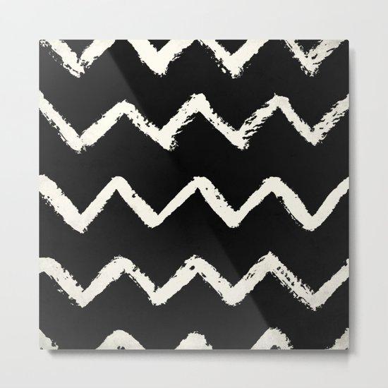 Tribal Chevron Stripes Metal Print