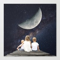 Canvas Prints featuring Night Wish by Cs025