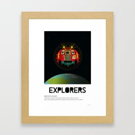Explorers (1985) Framed Art Print