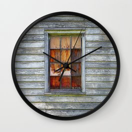 Barn Window with Plywood Wall Clock