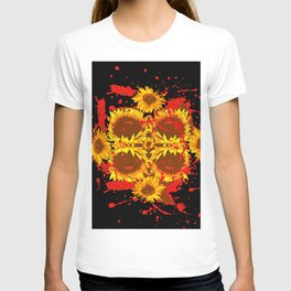 """SUNFLOWERS HAVING BLOODY GOOD TIME"" T-shirt"