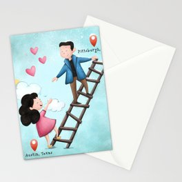Long Distance Love Stationery Cards