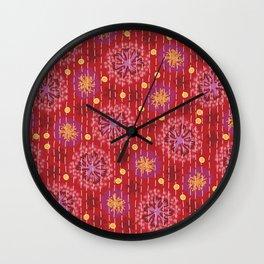Kantha floral 5 Wall Clock